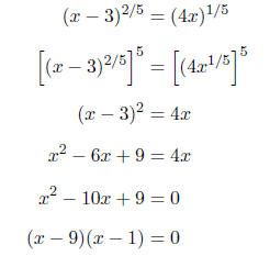 how to get rid of fractional exponents in the denominator